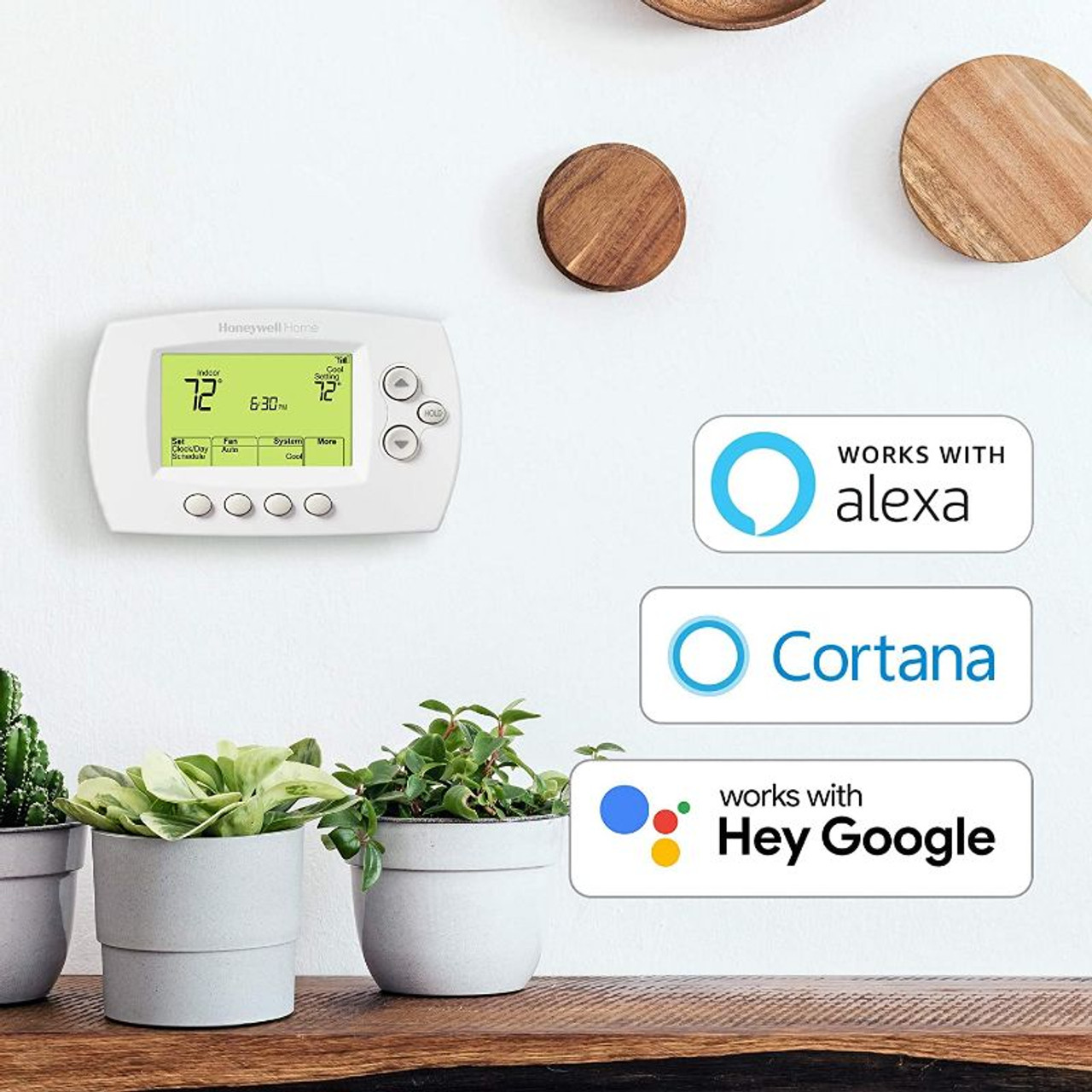 Honeywell Home Wi-Fi 7-Day Programmable Thermostat, Requires C Wire, Works with Alexa