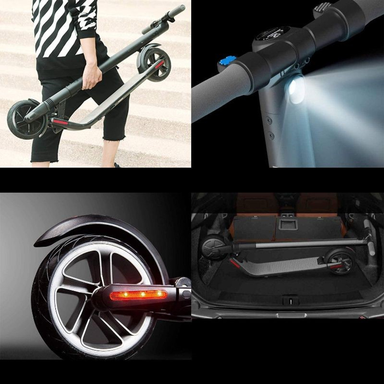 Segway Ninebot ES4 Foldable Electric Kick Scooter with External Battery