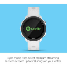 Garmin Forerunner 245 Music GPS Running Smartwatch with Music and Advanced Dynamics - White