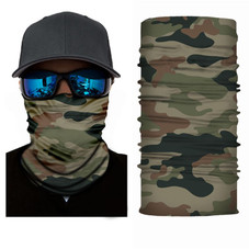 Jordefano Elastic Face Covering Neck Gaiter with Dust and UV Protection - 5 Pack