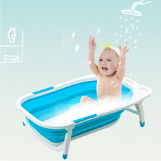 Baby Bathtub with Block - Foldable, Collapsible, Portable