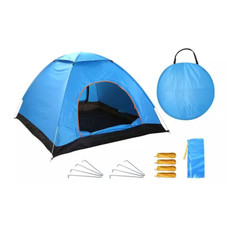 Pop-Up Tent for 3-4 People with 2 Net Doors and Carrying Bag