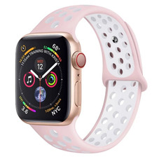 Silicone Sports Watch Band Compatible with Apple Watch 6 5 4 3 SE - 1 or 2 Pack