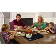 Eekay Antibacterial Heat Resistant Silicone Mat for Hot Pans and Dish Drying Plus Spoon Rest