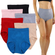 Women's Slimming High-Waisted Panty Briefs Plus Size - 6 Pack