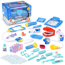 Educational Doctor Medical Pretend Play Toy Set In Storage Box 34 Pieces