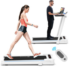 2.25HP 3-in-1 Folding Treadmill with Table Speaker Remote Control