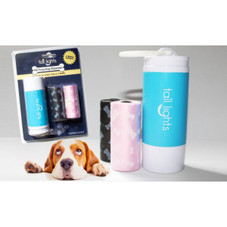 Tail Lights LED Poop Bag Dispenser with Leash Clip and Refills