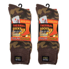 Men's Polar Extreme Thermal Insulated Camo Boot Socks - 2 Pack