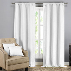 Solid Blackout Textured Curtain Panels with Decorative Throw Pillow Covers - 2 Pack