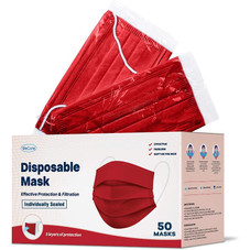 WeCare Individually Wrapped 3-Ply Color or Print Masks for Adults - 50 Pack