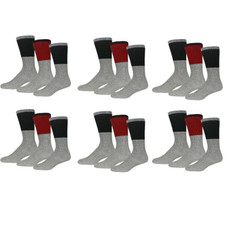 Insulated Men's Thermal Cold Weather Crew Socks - 9 Pairs