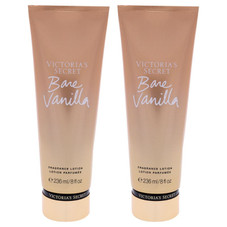 Bare Vanilla Fragrance Lotion by Victorias Secret for Women - 8 oz Body Lotion - 2 Pack