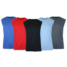 Men's Moisture-Wicking Activewear Performance Muscle Tee - 3 Pack