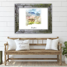 New Mexico Watercolor Map Print - Unframed Art Print