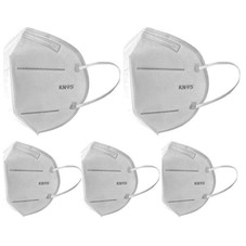 KN95 Protective Face Mask Protection - 5 Pack