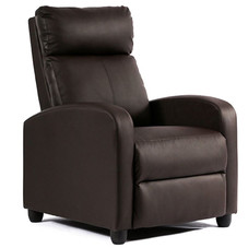 Leather Wing-back Recliner Chair with Foot Extension