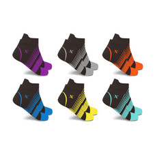 Ultra V-Striped Ankle Compression Socks - 6 Pairs