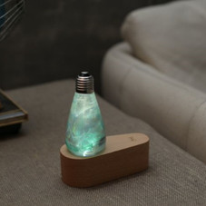 EP Light Spring Green and Blue Bulb Art Fixture Lamp with Optional Modern or Vintage Base Stand