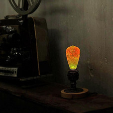 EP Light Nebula Outter Space Bulb Art Fixture Lamp with Optional Modern or Vintage Base Stand