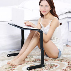 Adjustable & Foldable Laptop Table with Mouse Board