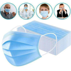 3 Ply Non-woven Disposable Face Masks - 100 Pack