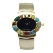 Charles Delon CDNY Women Watches 4108 LABD Gold with Colored Stones Stainless Steel