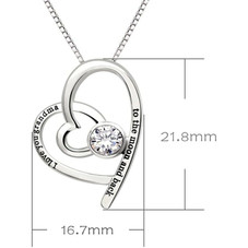 I Love You Grandma to the moon and back - Pave Heart Necklace Made with Swarovski Crystals