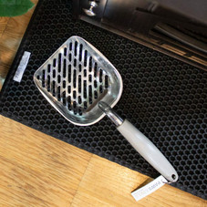 Cat Litter Scooper - Non Stick Jumbo Metal Waste Clump Remover Sifter