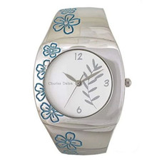 Charles Delon Women Watches 5163 LPWL Silver Blue Stainless Steel