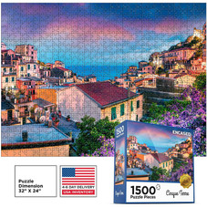 ENCASED 1500 Piece Jigsaw Puzzle for Adults and Teen - Large Cinque Terre