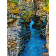 ENCASED 1500 Piece Jigsaw Puzzle for Adults and Teen - Large Athabasca Falls