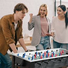 """48"""" Competition Sized Home Recreation Wooden Foosball Table"""