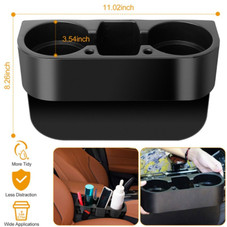 Car Console Seat Seam Wedge Cup Holder and Side Storage Organizer
