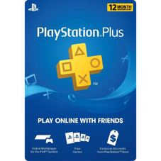 12 Month Playstation Plus PSN Membership Card - 1 Year, North America Region Only, Email Delivery