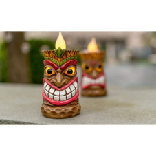 Touch Of ECO Solar LED Tiki Statue Decoration Lights - 1, 2, or 3 Pack