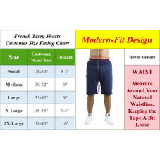 Men's Classic French Terry Jogger Sweat Lounge Shorts With Zipper Side Pockets