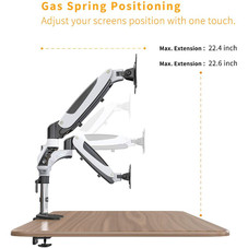 Halter Dual LCD Adjustable Monitor Stand, Stacking Arm
