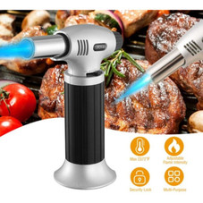 Refillable Culinary Butane Gas Blow Torch Lighter with Safety Lock