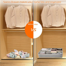 Foldable Multi-Cell Closet Organizers - 3 Pack