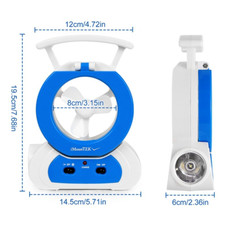 LED Cooling Small Fan with 180 Adjustable