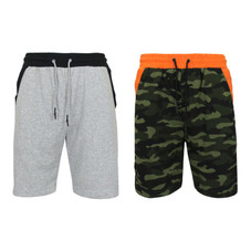 Men's French Terry Jogger Sweat Lounge Shorts - 2 Pack