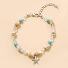 18K White Gold Plated Vacation Summer Anklet