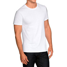 Fruit of the Loom Men's White Crew Tagless Short Sleeve T-Shirts - 6 Pack