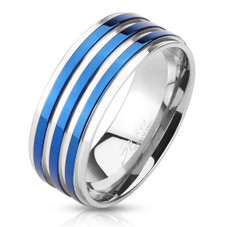 316L Stainless Steel Comfort Fit Men's Bands