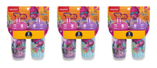 Playtex Trolls Sipsters Insulated Spill Proof Spout Cups, Stage 3, 12m+ 9oz, 2 Cups