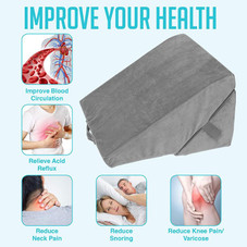 """Adjustable 9"""" and 12'' Folding Memory Foam Pillow for Legs and Back Support"""