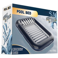 """Galvanox Inflatable Heavy Duty Water Raft Lounger Bed 70"""" x 49""""- Blue"""