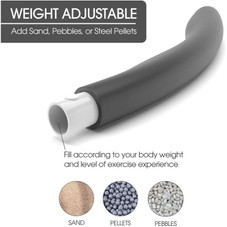 Galvanox Detachable Weighted Hula Hoop for Adults 2lb
