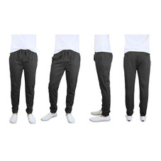 100% Cotton Men's Cotton Stretch Twill Joggers - Single or 2-Pack
